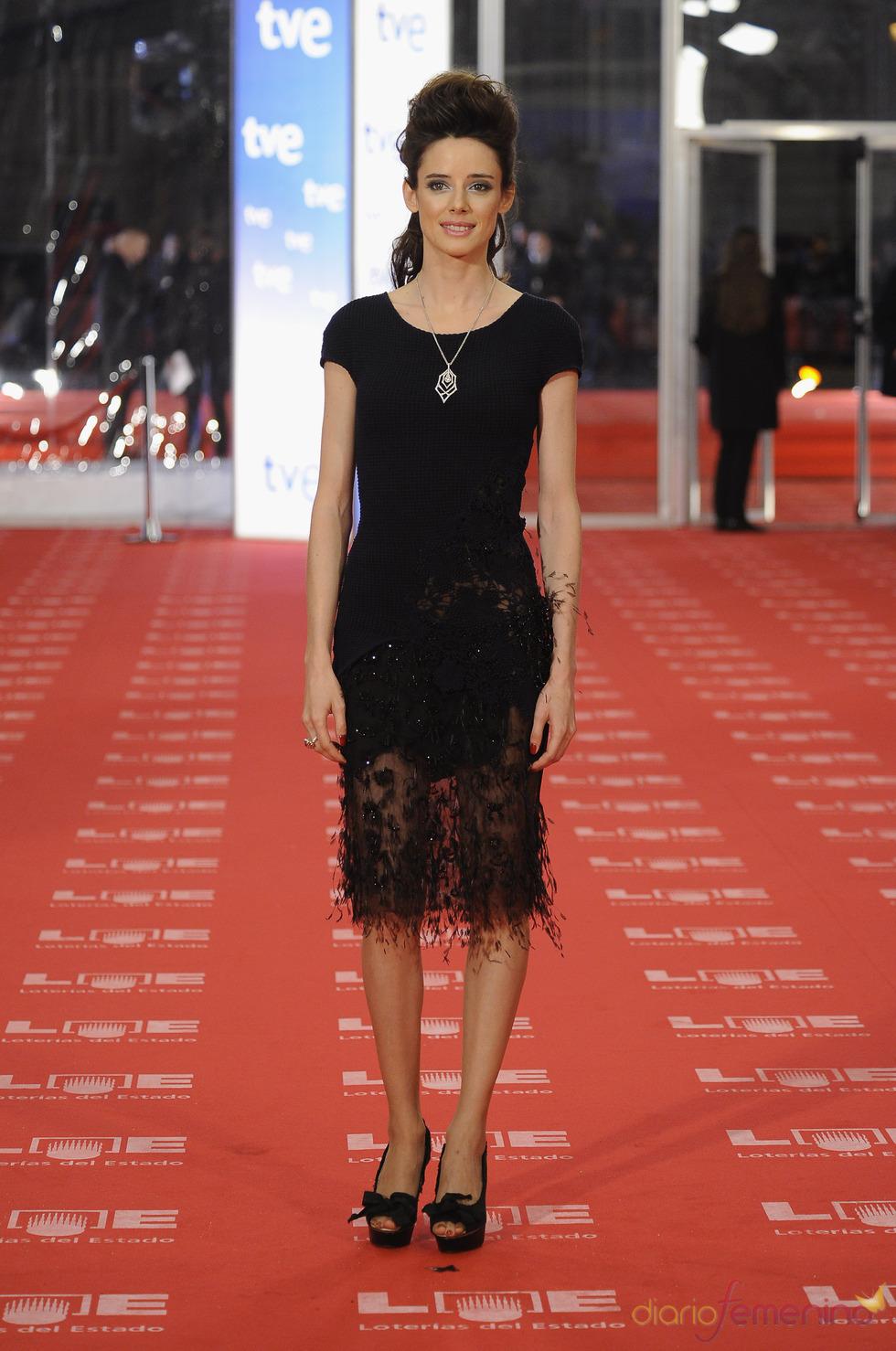 Pilar López de Ayala en la alfombra roja de los Goya 2011