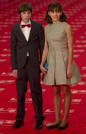 Francesc Colomer y Marina Comas en la alfombra roja de los Goyas 2011