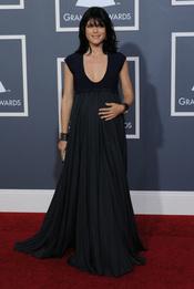 Selma Blair, embarazada en los Grammy 2011