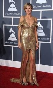 Heidi Klum en los Grammy 2011