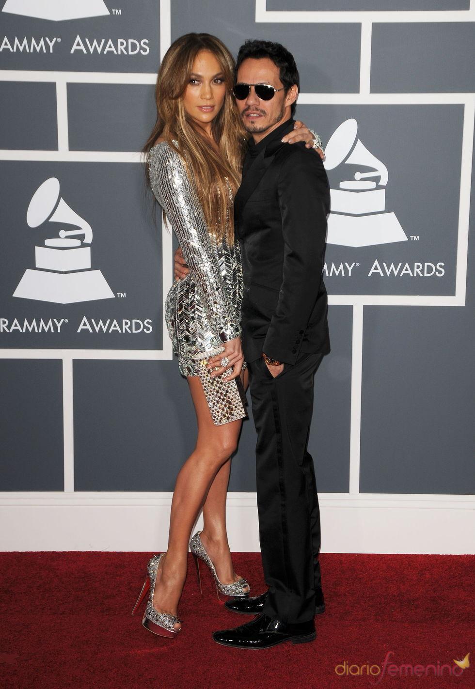 Jennifer Lopez y Marc Anthony en los Grammy 2011