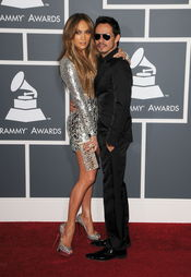 Jennifer Lopez y Marc Anthony en los Grammy 2011