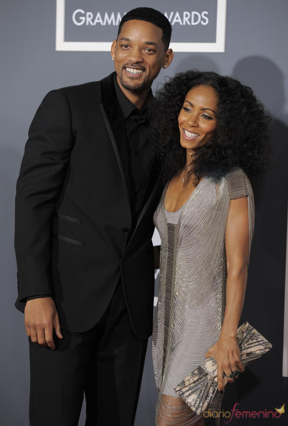 Will Smith y Jada Pinkett Smith en los Grammy 2011
