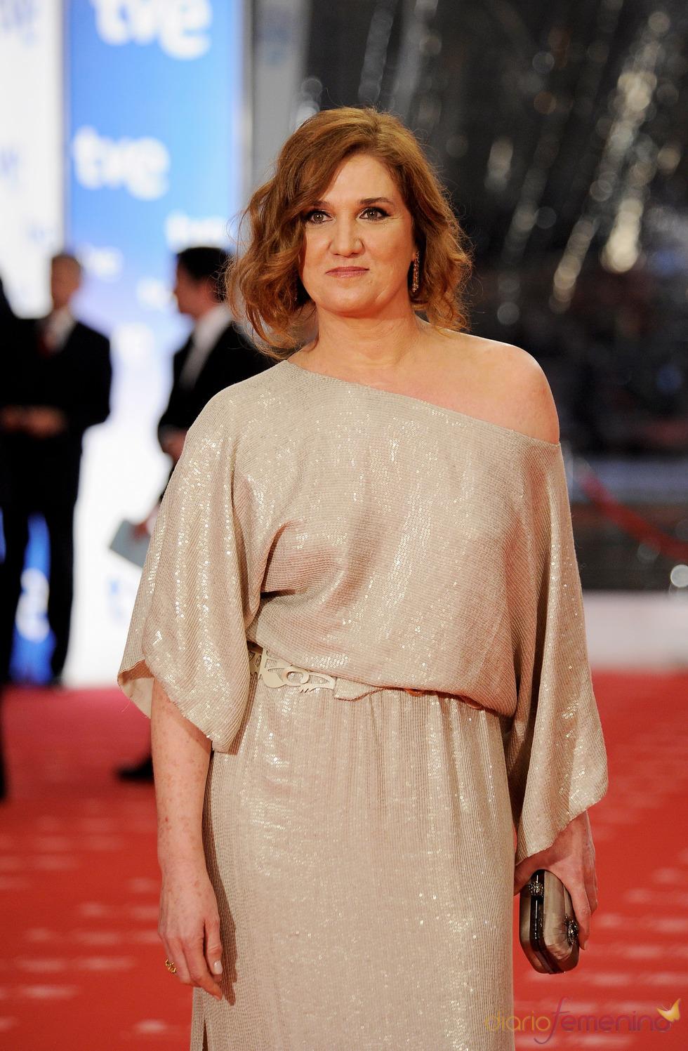 Ana Wagener en la alfombra roja de los Goya 2011