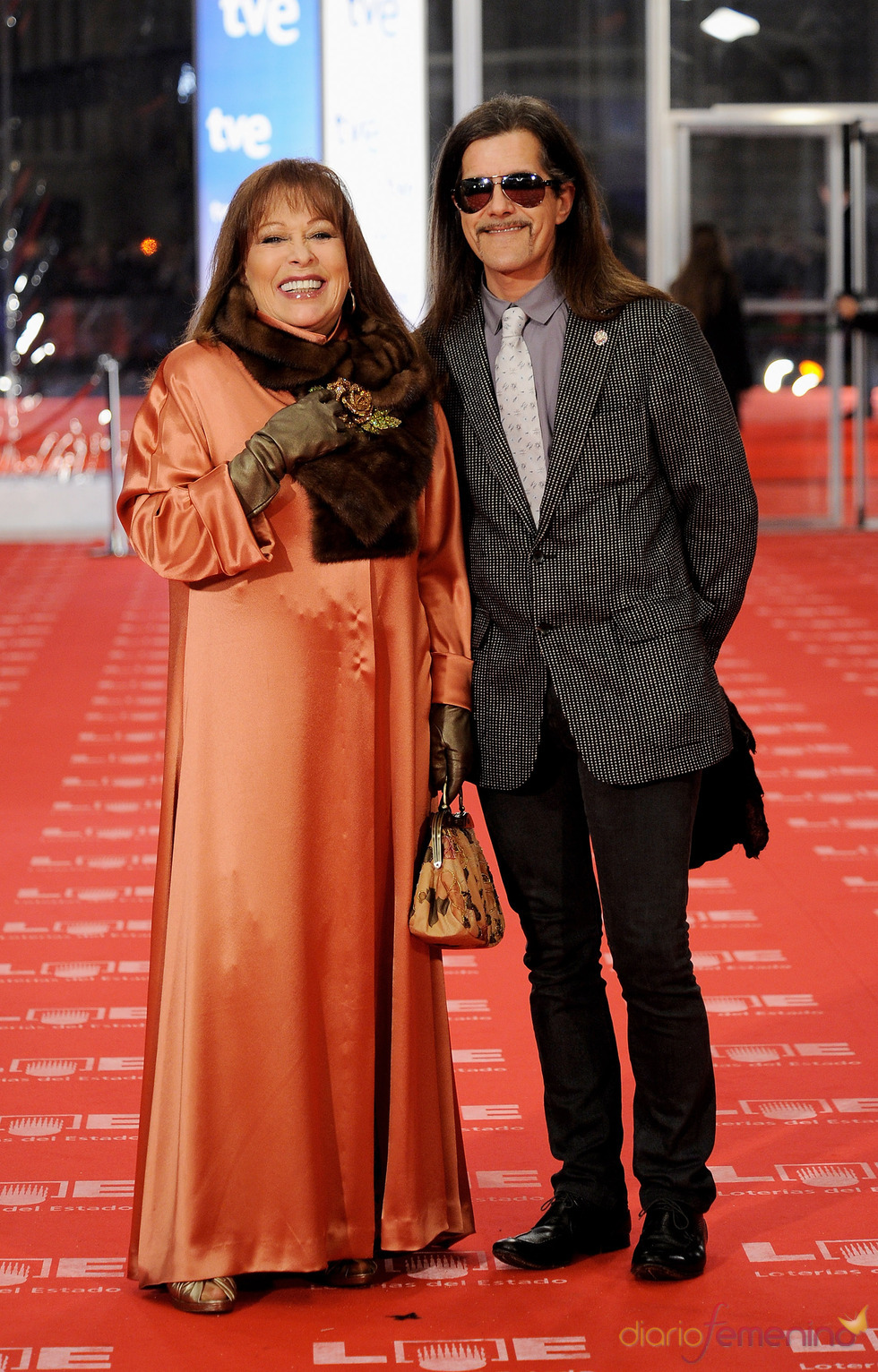 Massiel en la alfombra roja de los Goya 2011