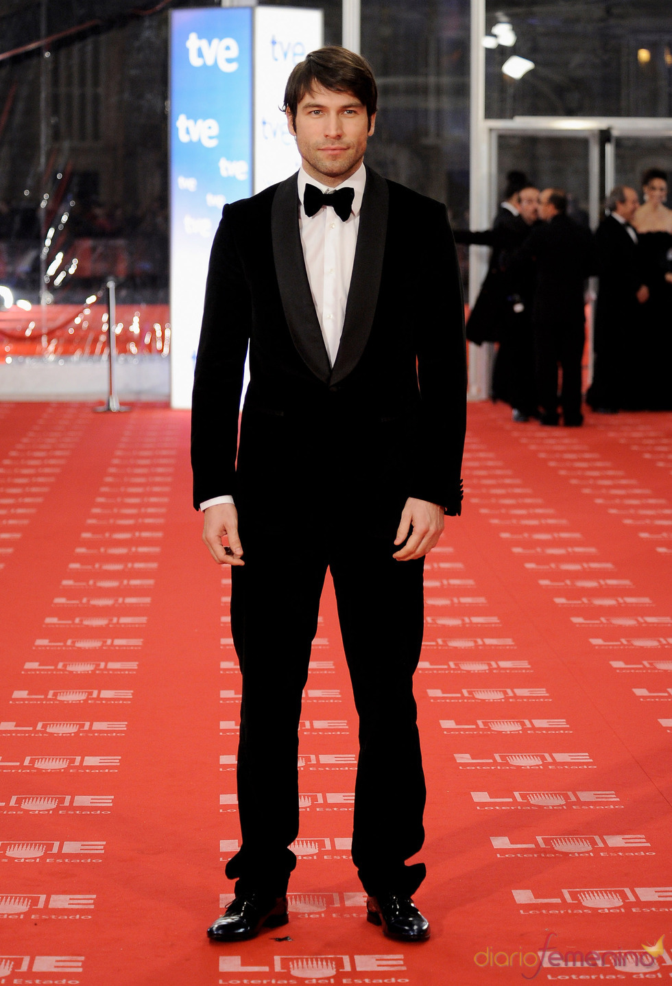 Rafael Amaya en la alfombra roja de los Goya 2011