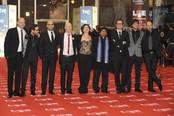El elenco de 'También la lluvia' en los Goya 2011