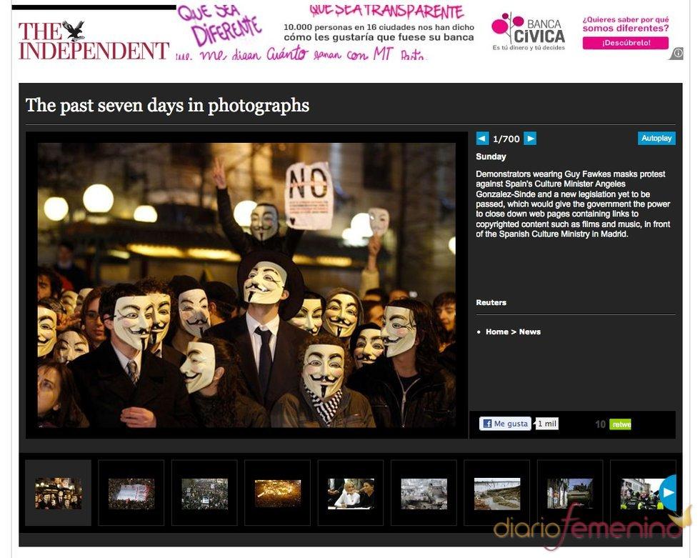 Prensa internacional destaca la protesta contra la Ley Sinde en los Goya 2011