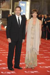Emilio Aragón y su mujer, Aruca, en los Goya 2011