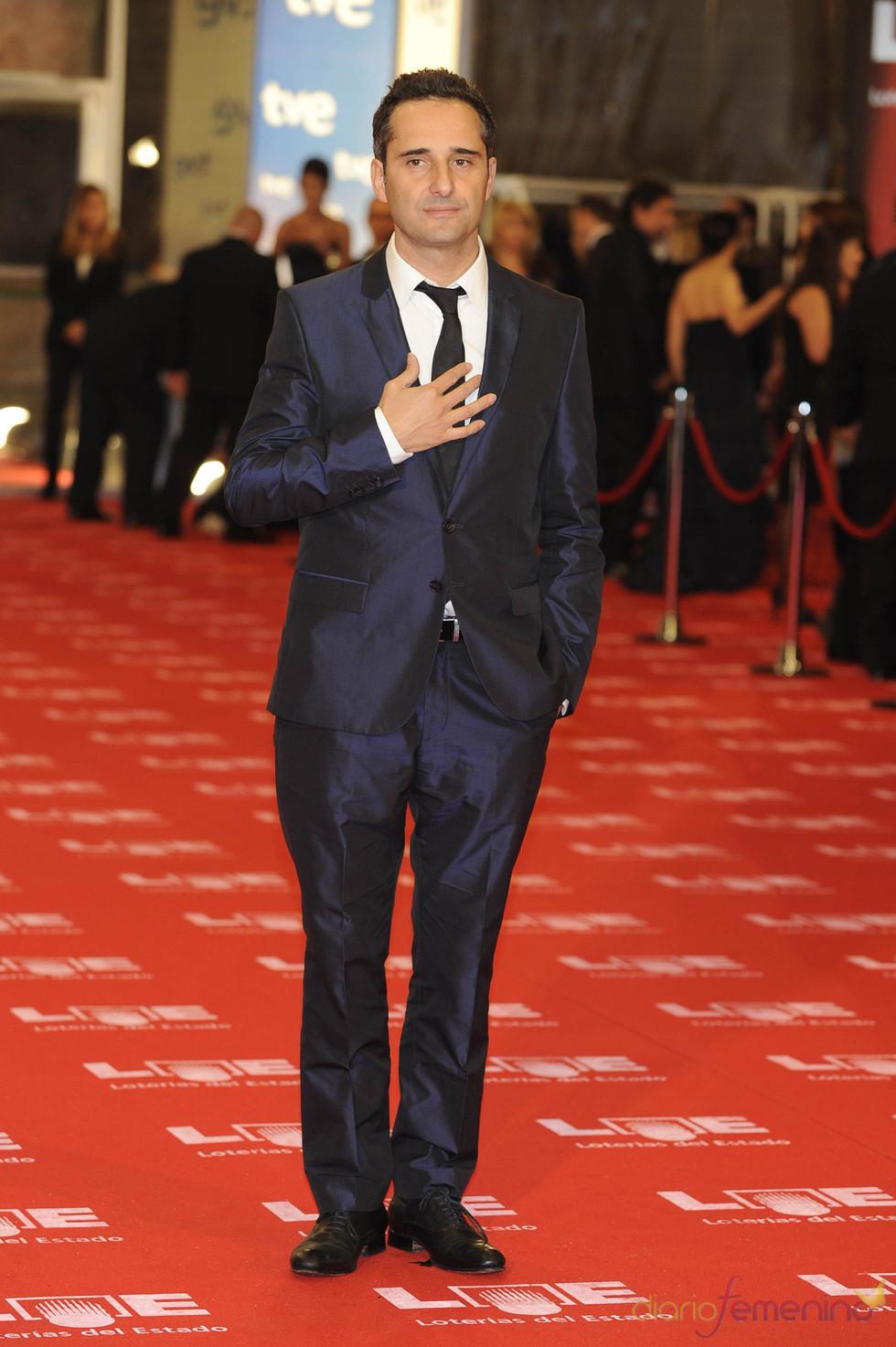 El cantante Jorge Drexler en la alfombra roja de los Goya 2011