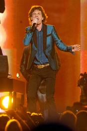 Mick Jagger cantando en los Grammy 2011