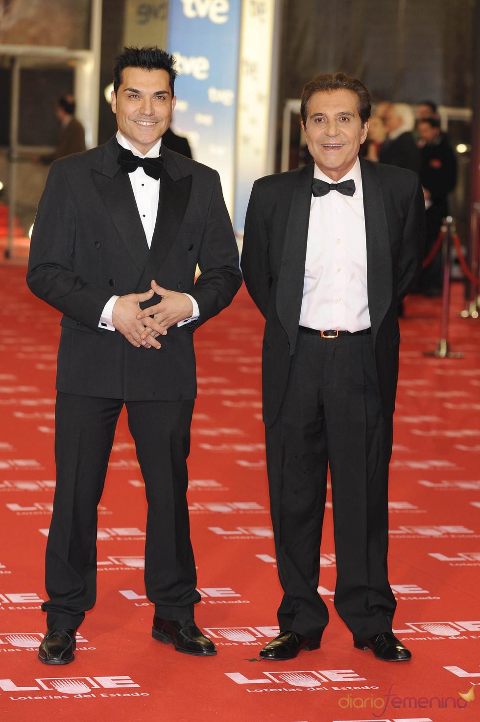 Andrés Pajares y su hijo en los Goya 2011