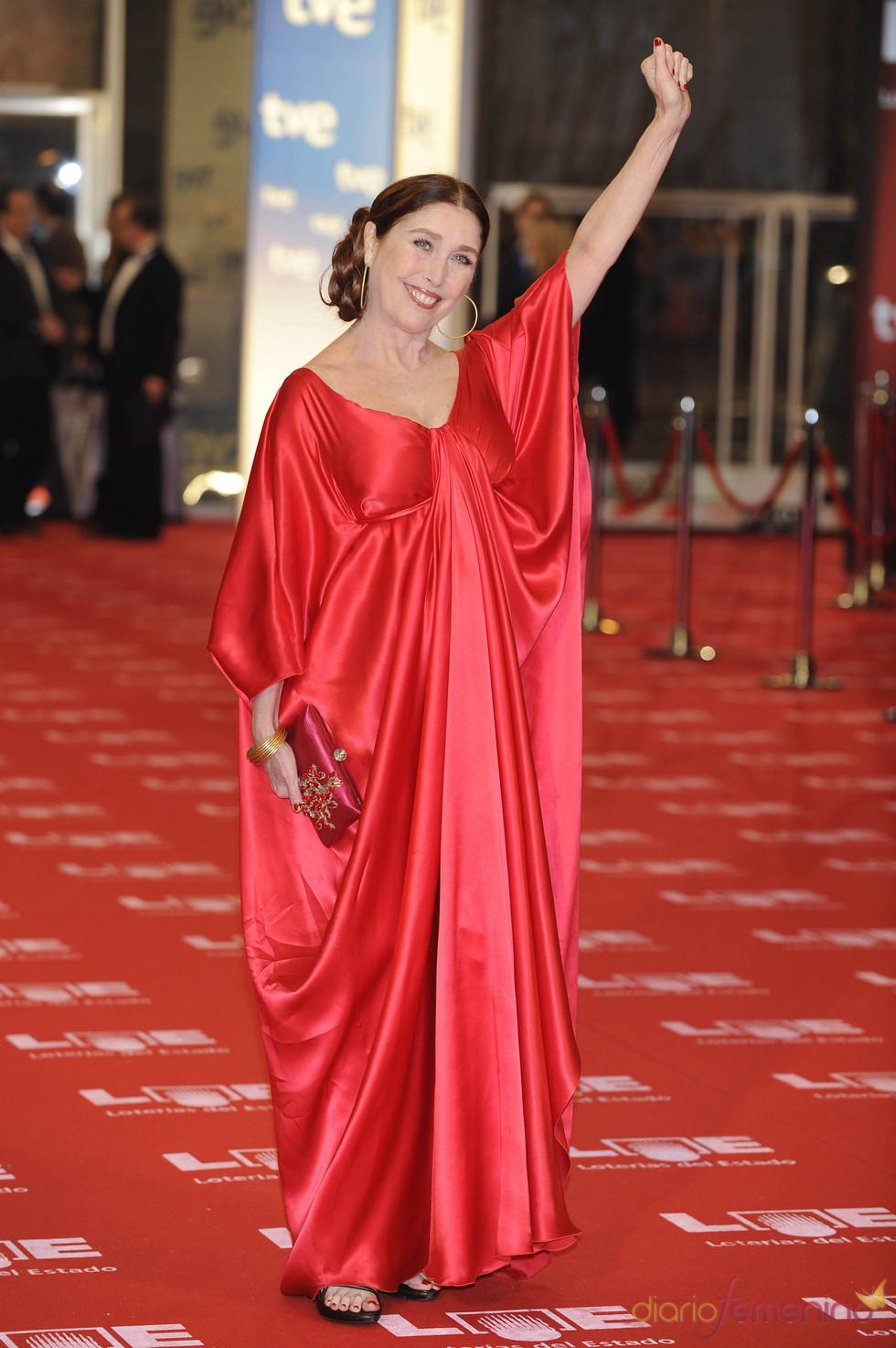 Verónica Forqué en la alfombra roja de los Goya 2011