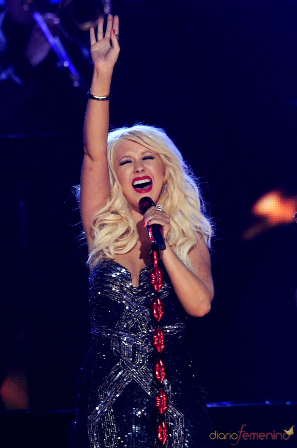Christina Aguilera en los Grammy 2011