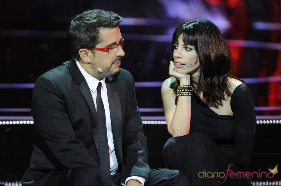 Andreu Buenafuente y Maribel Verdú durante la gala de los Goya 2011