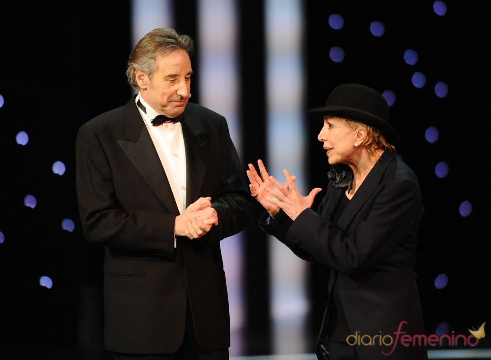 Juanjo Puigcorbé y Rosa María Sardá en la gala de los Goya 2011
