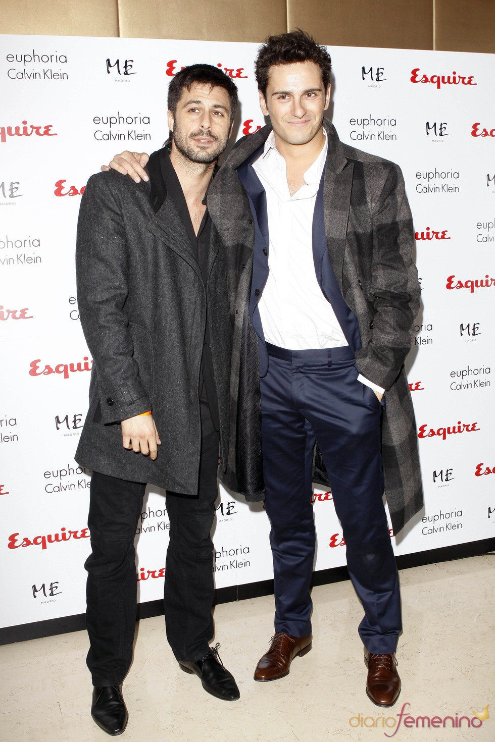 Hugo Silva y Asier Etxeandía en la fiesta Post-Goya 2011