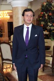 Juan Peña en la boda de Toñi Salazar y Roberto Liaño