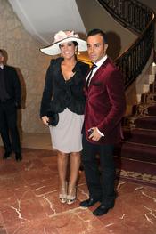 Raquel Bollo y Luis Rollán en la boda de Toñi Salazar y Roberto Liaño