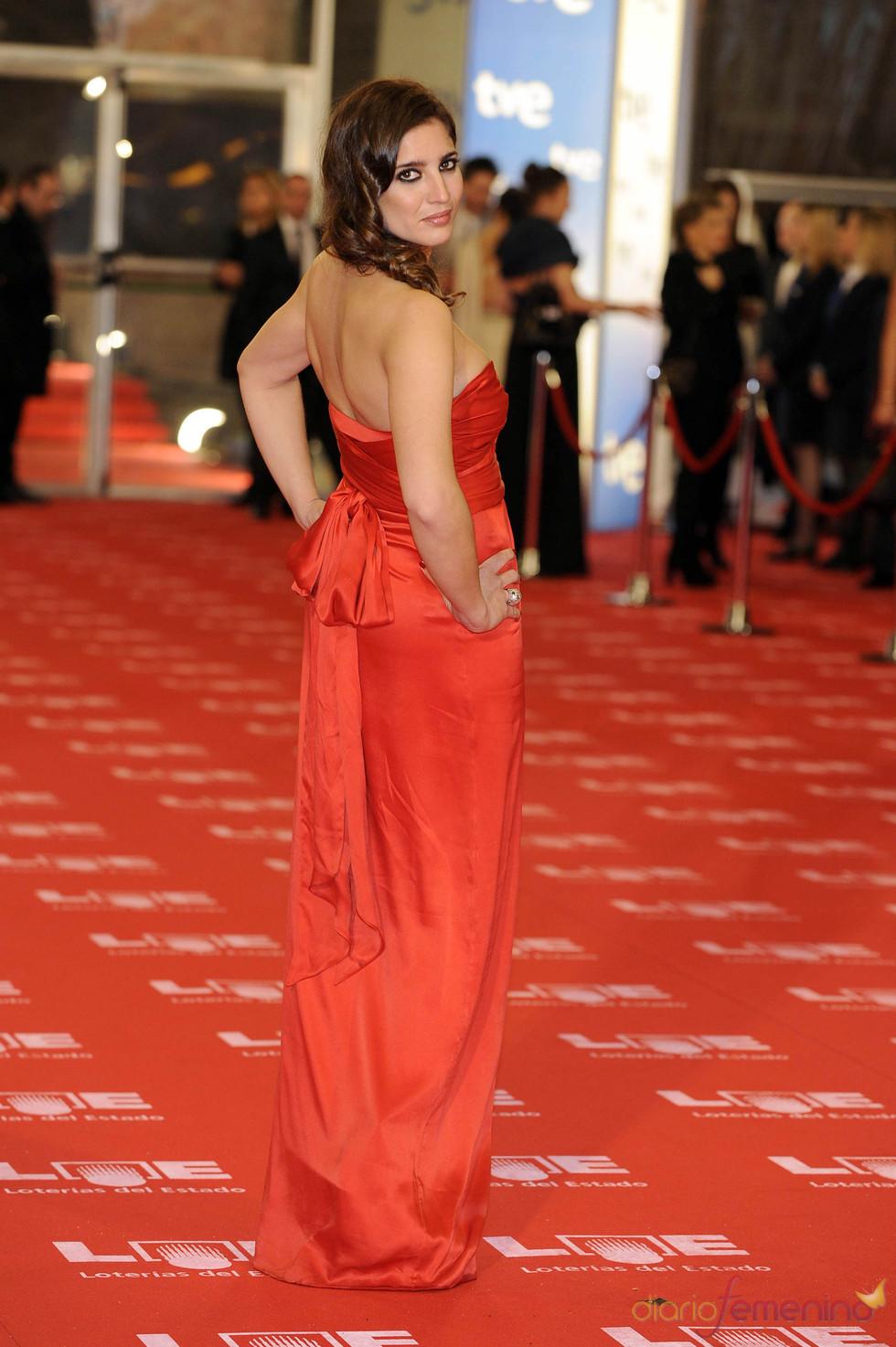 Lucía Jiménez en la alfombra roja de los Goya 2011