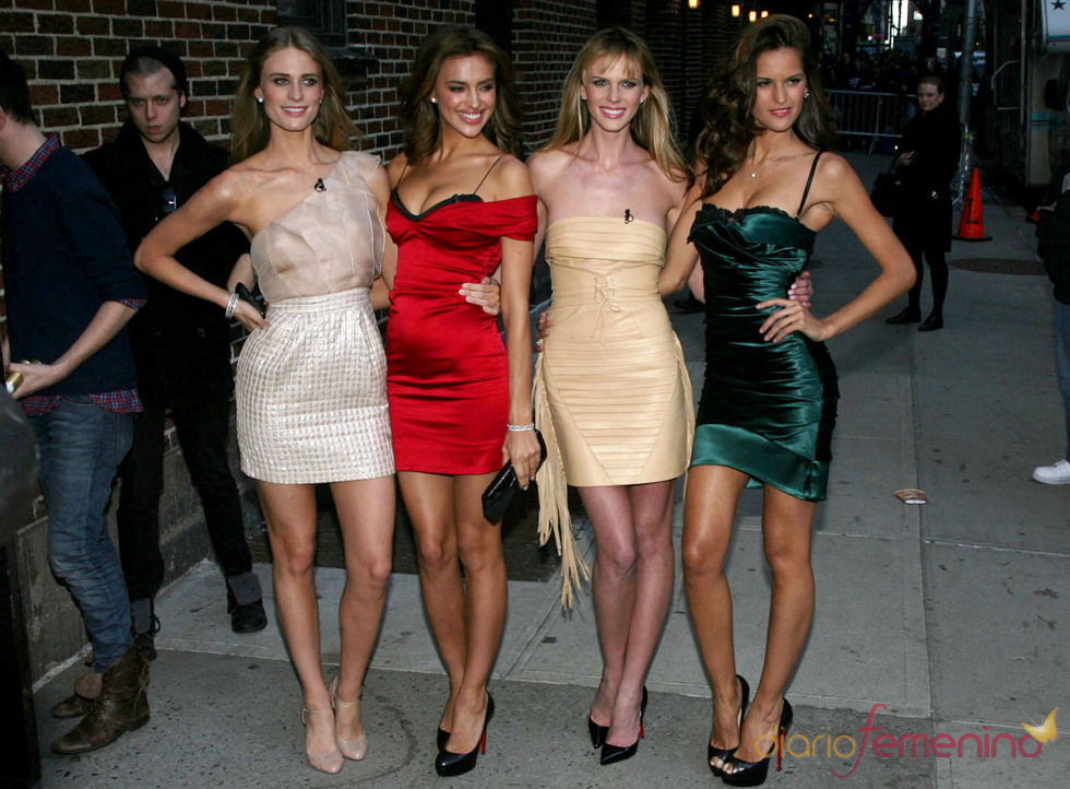 Irina Shayk acude al show de David Letterman junto a otras modelos