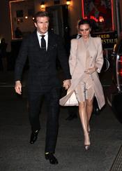 David y Victoria Beckham salen de cena por Nueva York