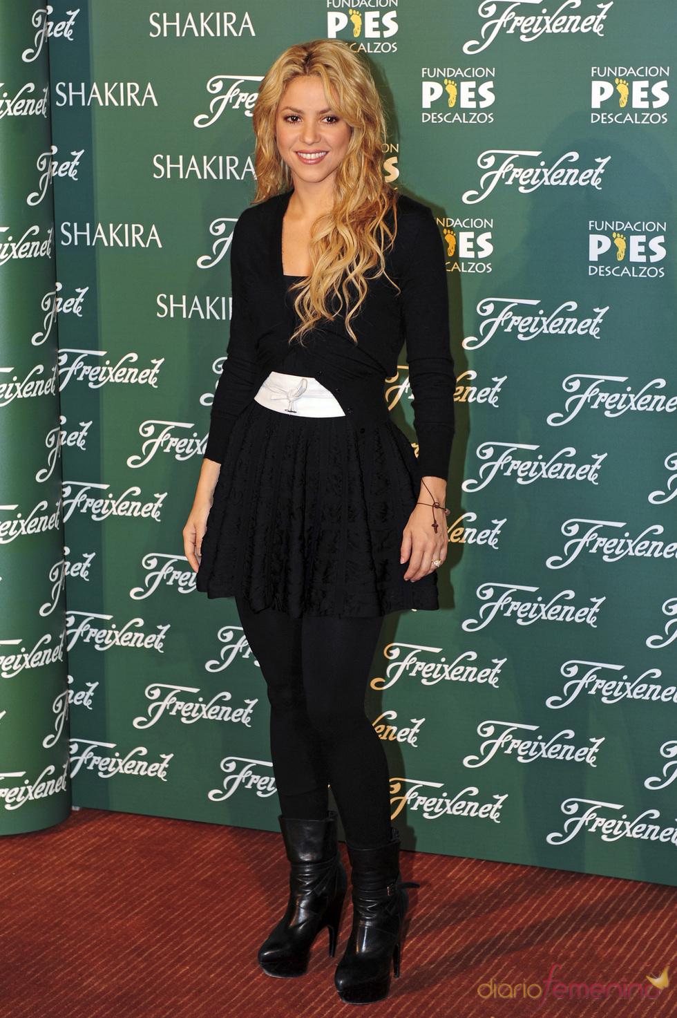 Shakira en la presentación de Freixenet