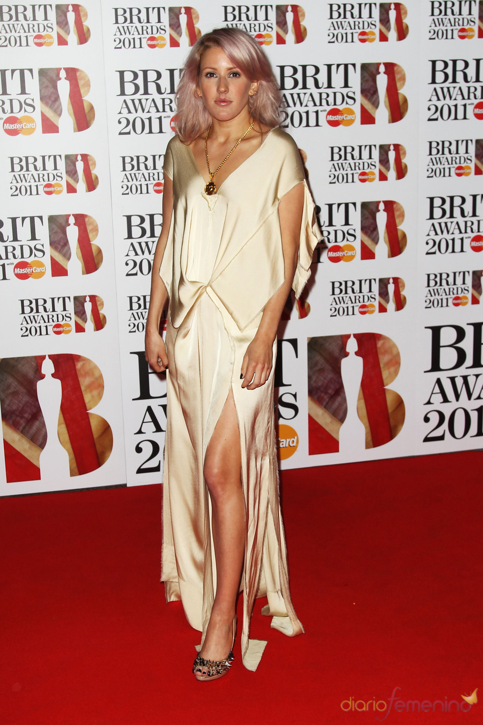 Ellie Goulding en los Brit Awards 2011