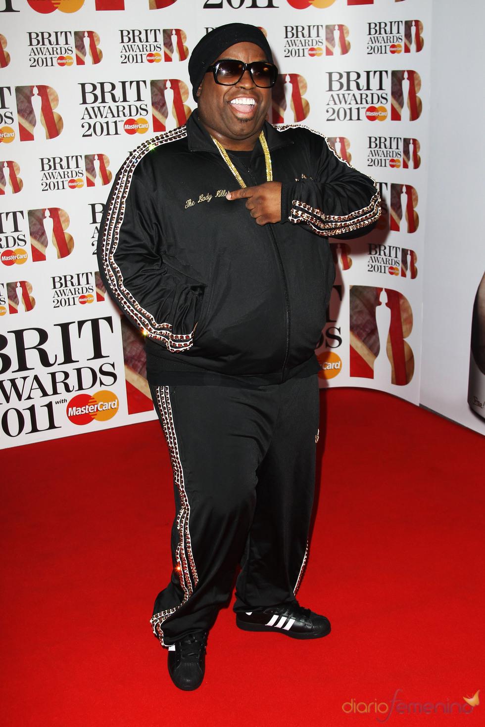 Cee Lo Green en los Brit Awards 2011