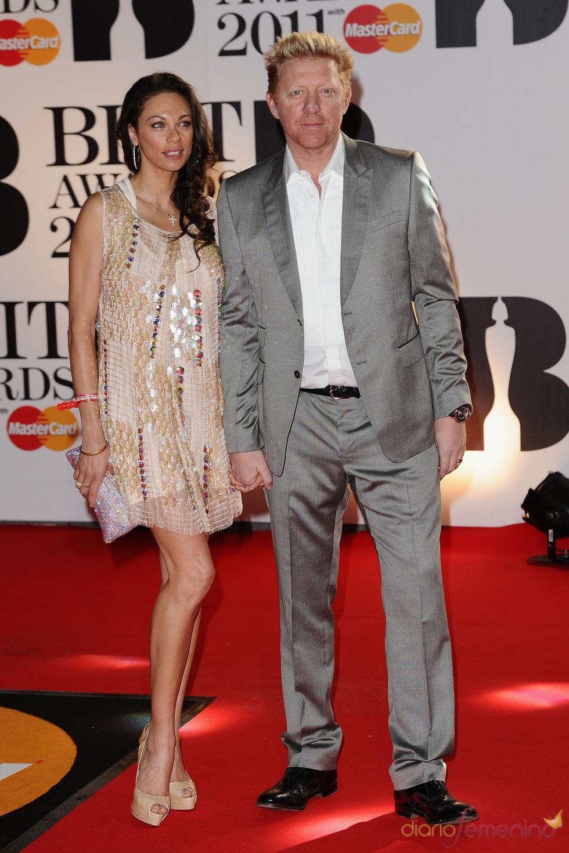 Boris Becker en los Brit Awards 2011