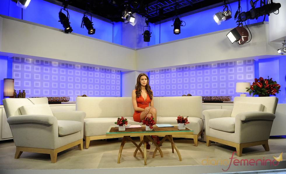 Irina Shayk en el plató de la NBC