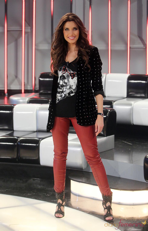Pilar Rubio en el plató de 'Operación Triunfo 2011'