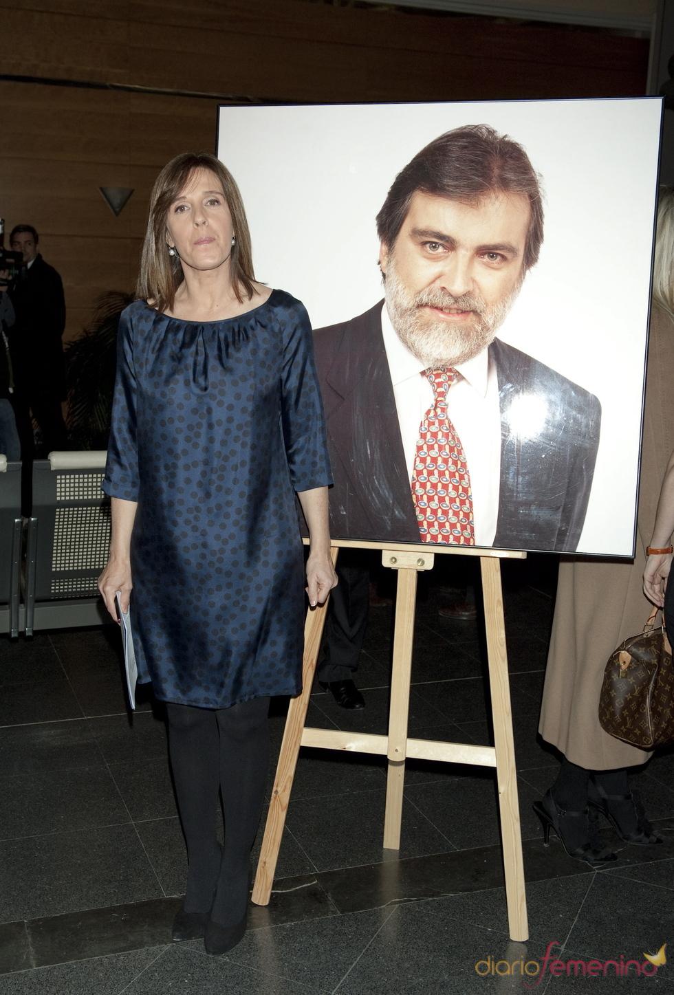 Ana Blanco en el homenaje a Luis Mariñas