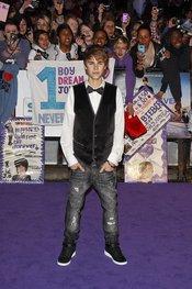 Justin Bieber presenta en Londres, 'never say never'