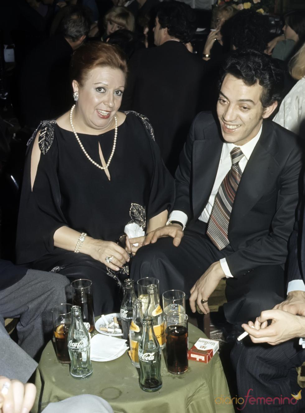 Florinda Chico con su marido, Santos