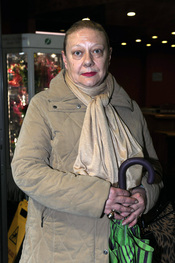 Marisol Ayuso en el velatorio de Florinda Chico