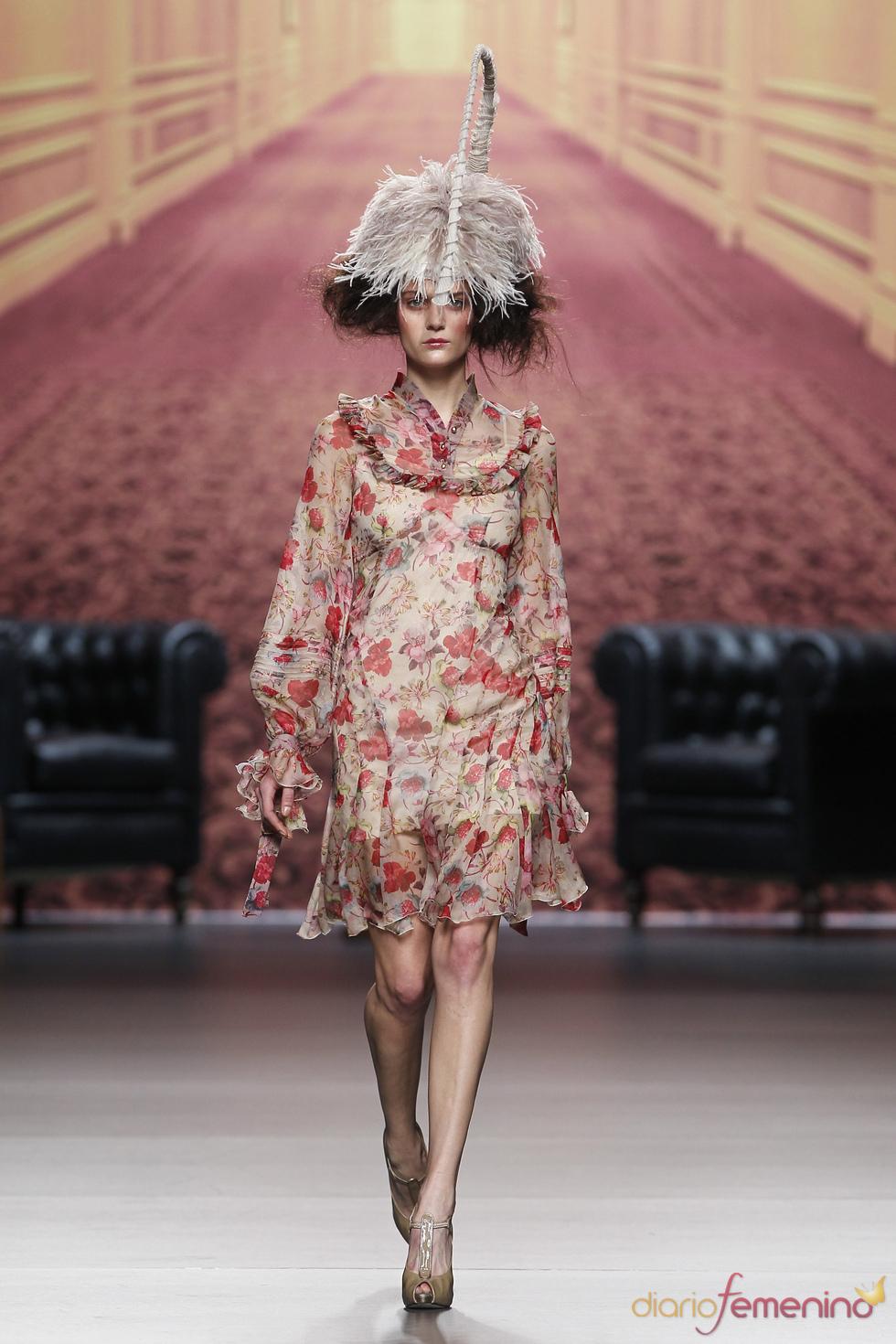 Vestido estampado. Alma Aguilar. Cibeles Madrid Fashion Week 2011