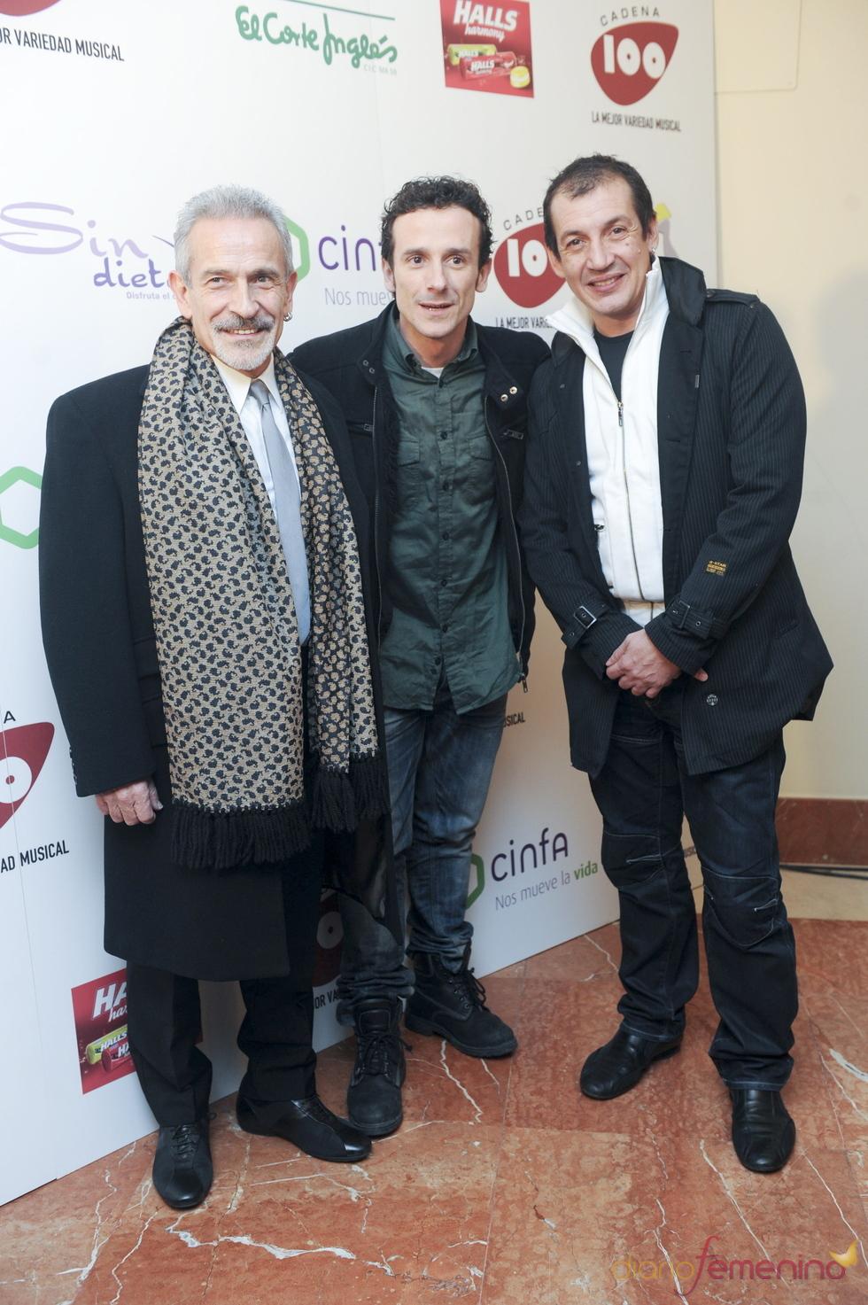 Victor Ullate, padre e hijo en los Premios Cadena 100