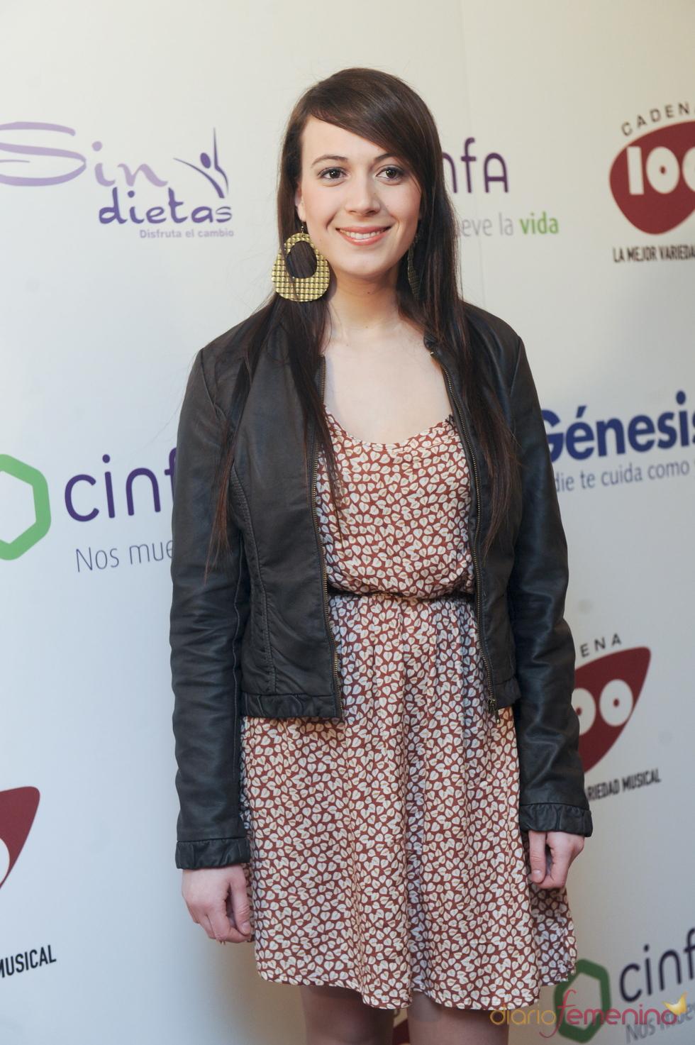 María Villalón en los Premios Pie Derecho de Cadena 100