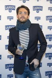 Maxim Huerta en la presentación del calendario Larios 2011