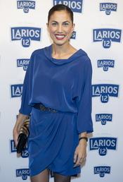 Toni Acosta en la presentación del calendario Larios 2011