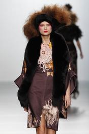 Pieles en la colección de Elisa Palomino O/I 2011-12. Cibeles Madrid Fashion Week