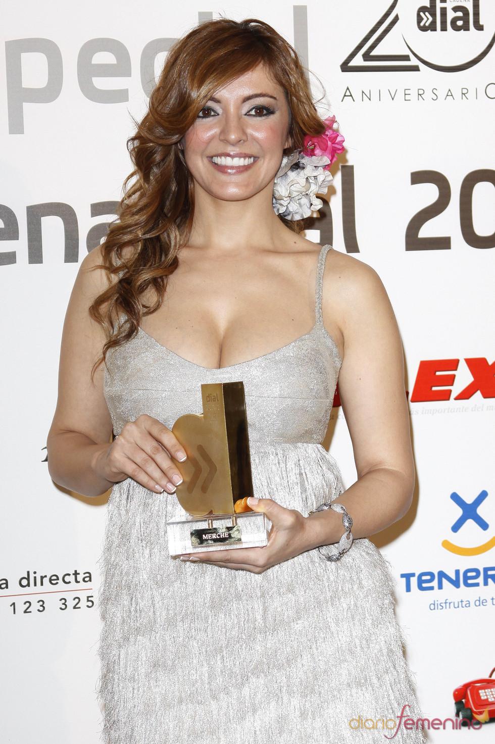 Merche en los Premios Cadena Dial 2011