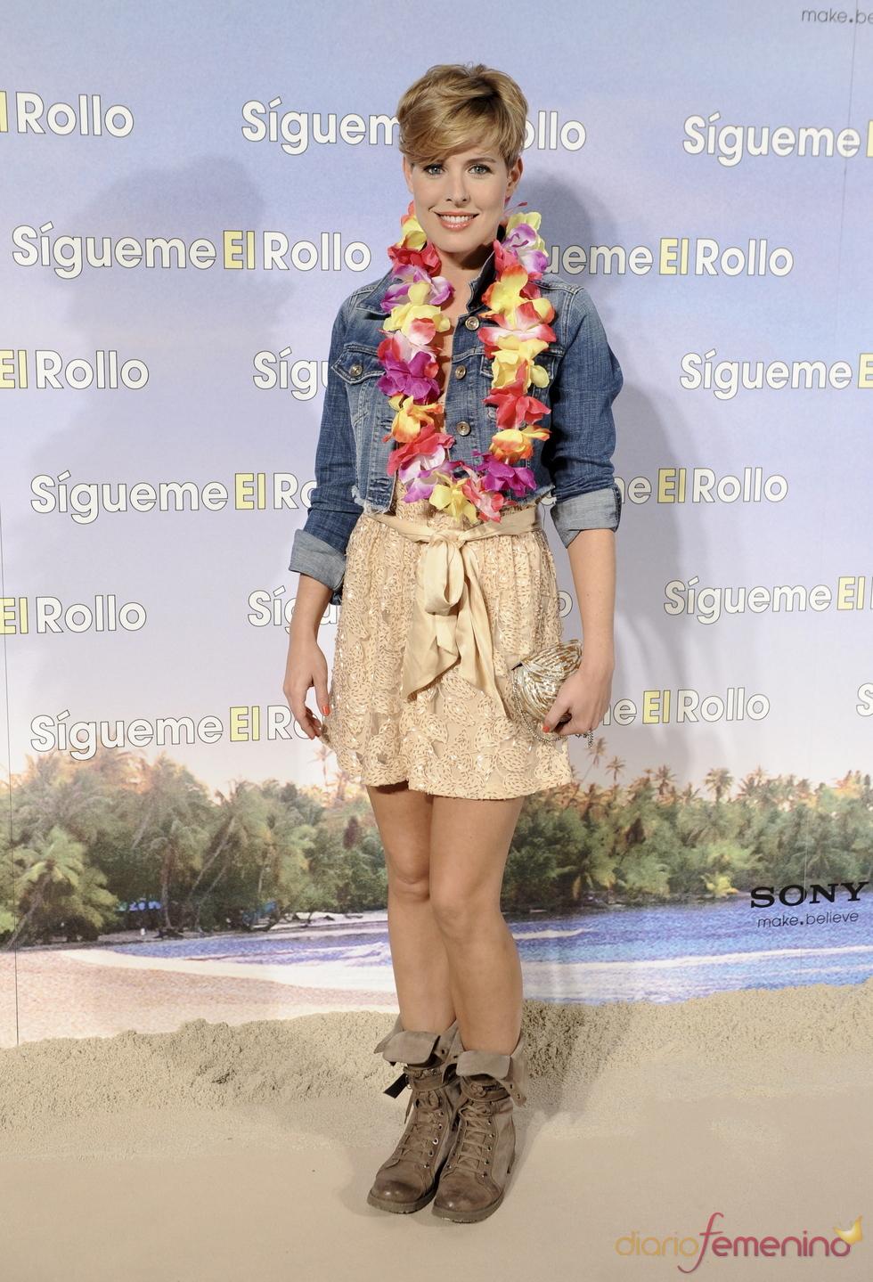 Tania Llasera en la premier de 'Sígueme el rollo' en Madrid