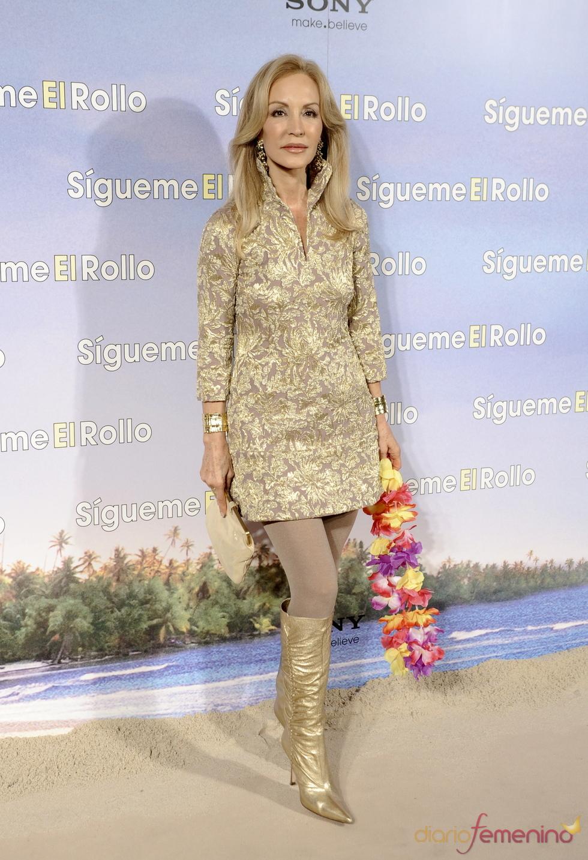 Carmen Lomana en  la premier de 'Sígueme el rollo' en Madrid