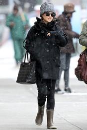 Natalie Portman preparada para el frío