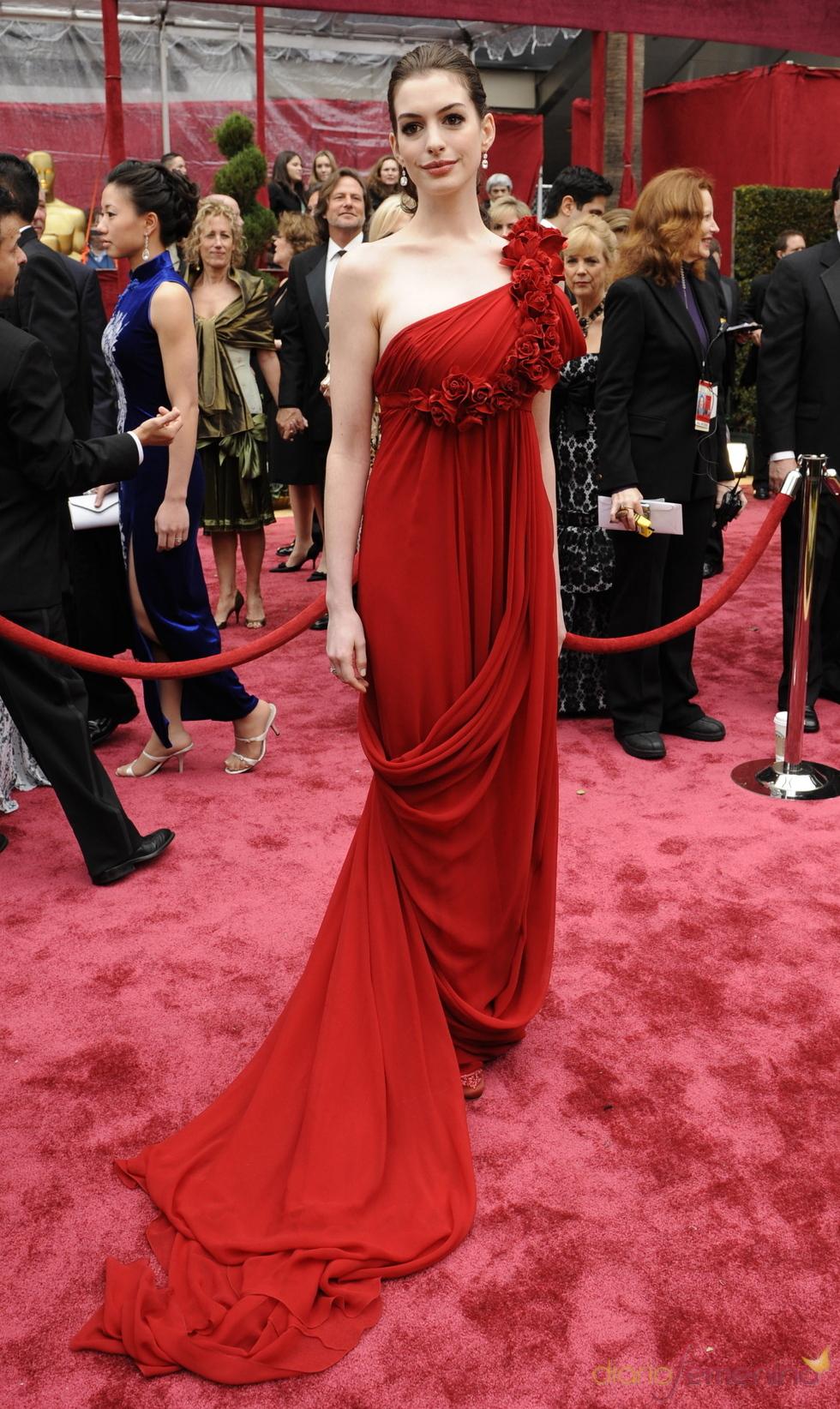 Anne Hathaway en los Óscar 2008
