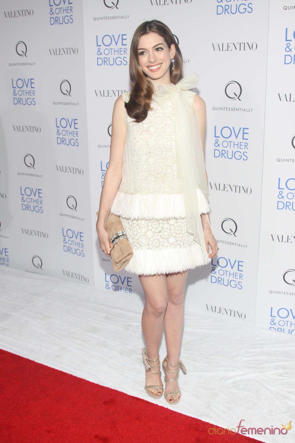 Anne Hathaway en el pase de 'Amor y otras drogas' en NY