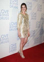 Anne Hathaway en la premier de 'Amor y otras drogas' en Australia