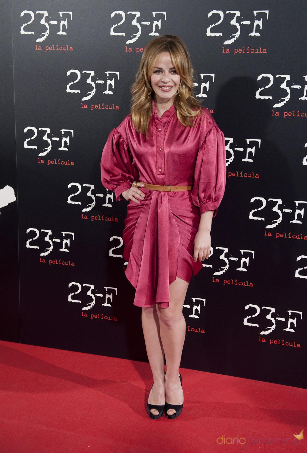 María Adánez en el estreno de 23-F